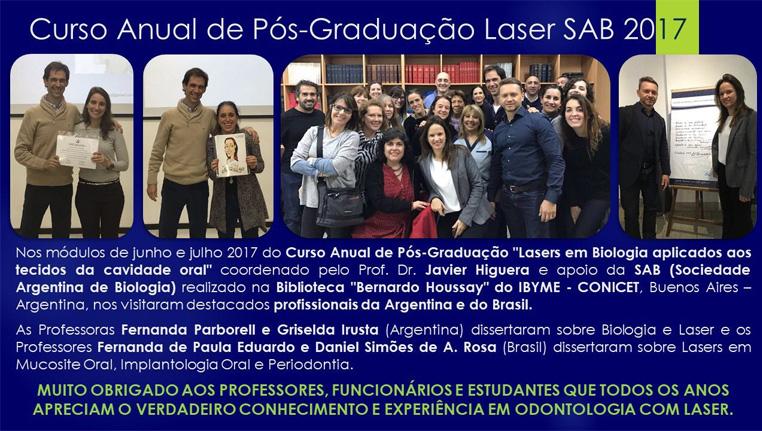 Curso Anual de Pós-Graduação Laser SAB 2017